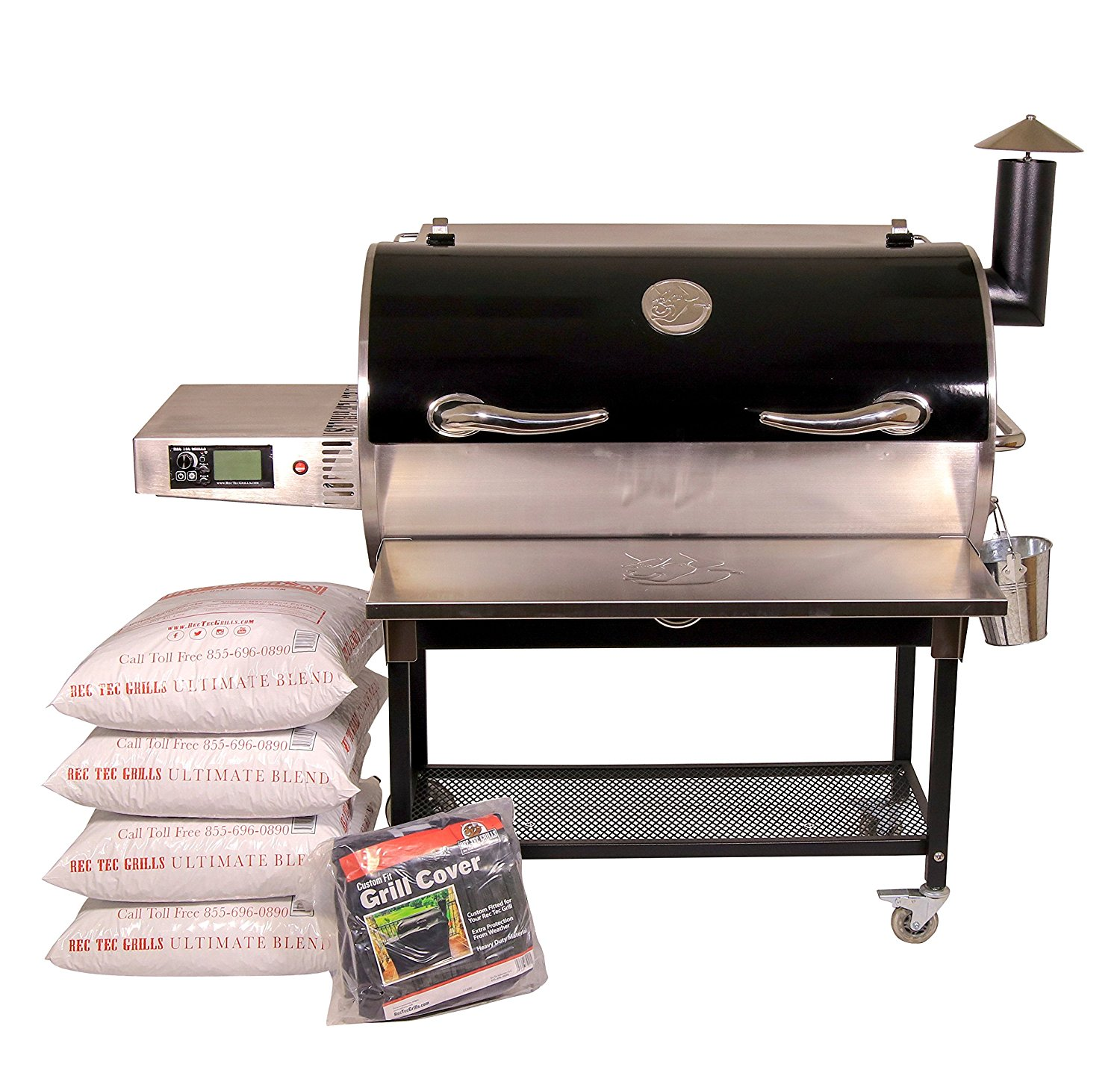 Bull Wood Pellet Stainless Steel Covered Grill From Rec Tec