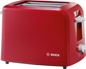 An image related to Bosch 980W Plastic Red Toaster