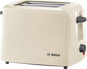 An image related to Bosch 980W Plastic Cream Compact Toaster