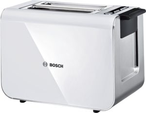 An image of Bosch 1460W Stainless Steel White Toaster