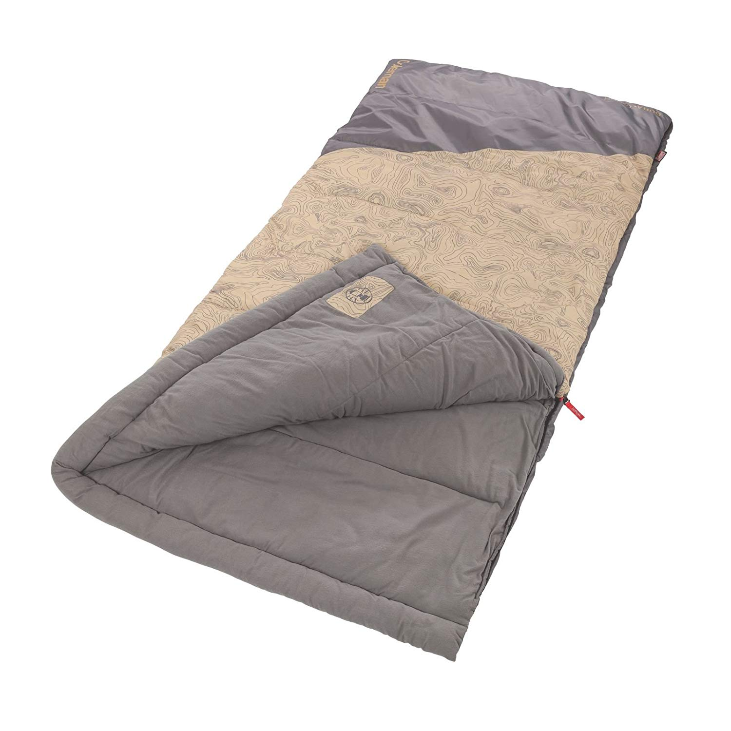 An image of Coleman Big-N-Tall 2000025731 30 Degree Polyester Sleeping Bag
