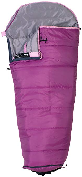 An image of Slumberjack Go-N-Grow 52729511SR Girls 30 Degree Polyester Sleeping Bag