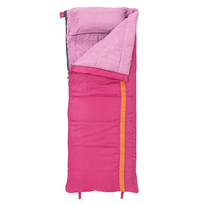 An image of Slumberjack Kit 40 Rectangular Sleeping Bag-Girl's 52729812SR Girls 40 Degree Sleeping Bag