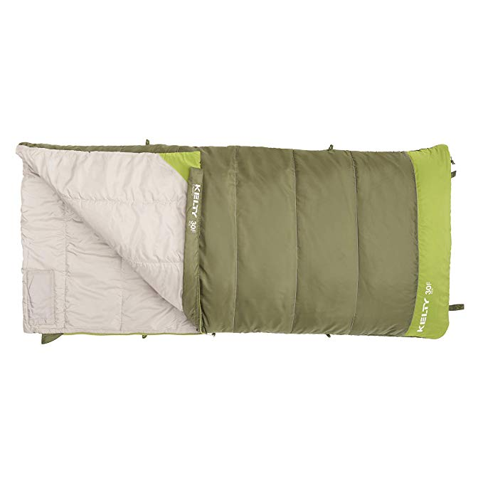 An image of Kelty Callisto Kids 35425018SR Boys 30 Degree Polyester Taffeta Sleeping Bag