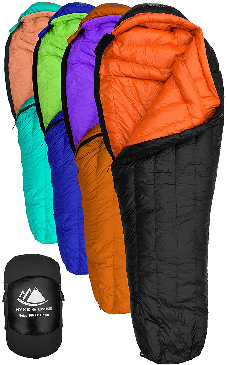 An image of Hyke & Byke Men's Nylon Ripstop Sleeping Bag