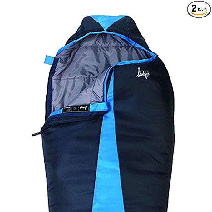 An image related to Slumberjack Latitude Blue Single Polyester Taffeta Mummy Sleeping Bag