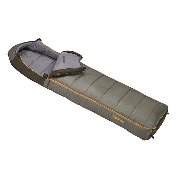 An image related to Slumberjack Borderland 20 Men's 20 Degree Polyester Sleeping Bag
