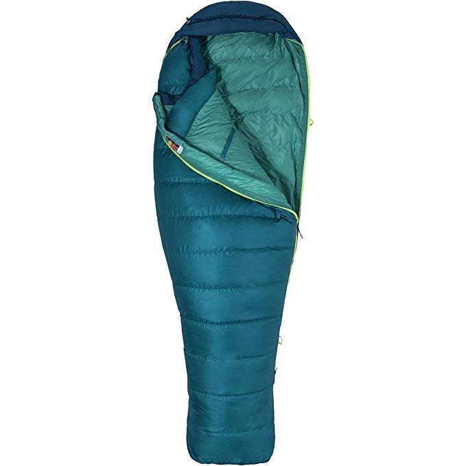 An image related to Marmot Teton Navy Women's Single Lightweight Nylon Mummy Sleeping Bag