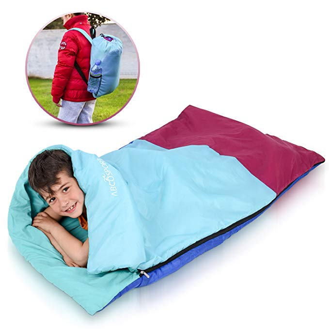 An image of Abco Tech Kids Or Children's Junior ABC2188 Kids 50 Degree Polyester Sleeping Bag | Expert Camper