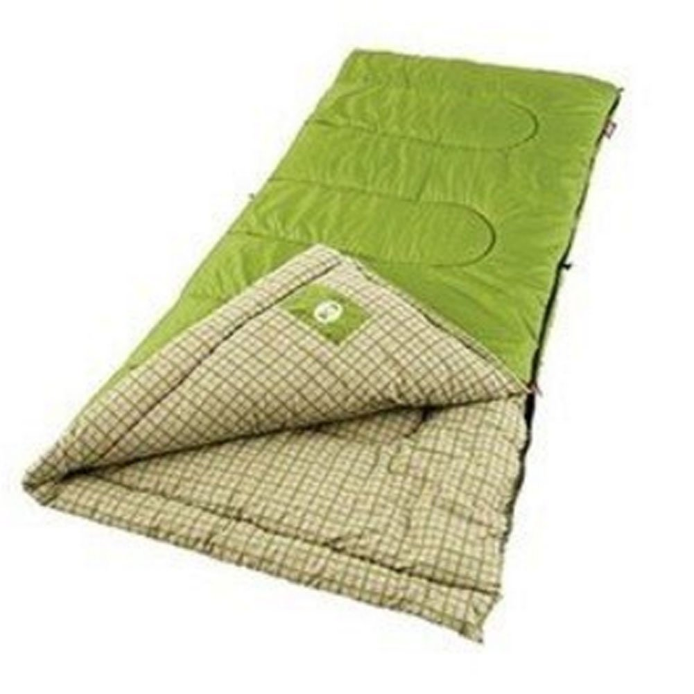 An image of Coleman Green Valley 40 Degree Cotton Flannel Sleeping Bag