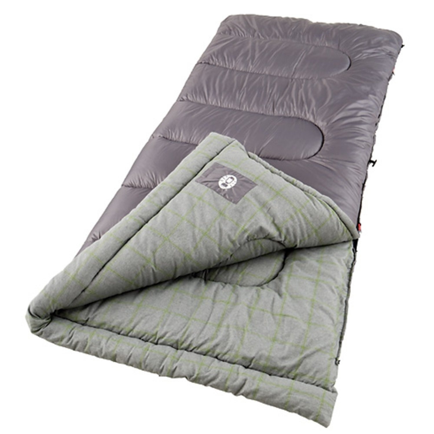 An image of Coleman Lassen 2000004447 20 Degree Cotton Flannel Sleeping Bag