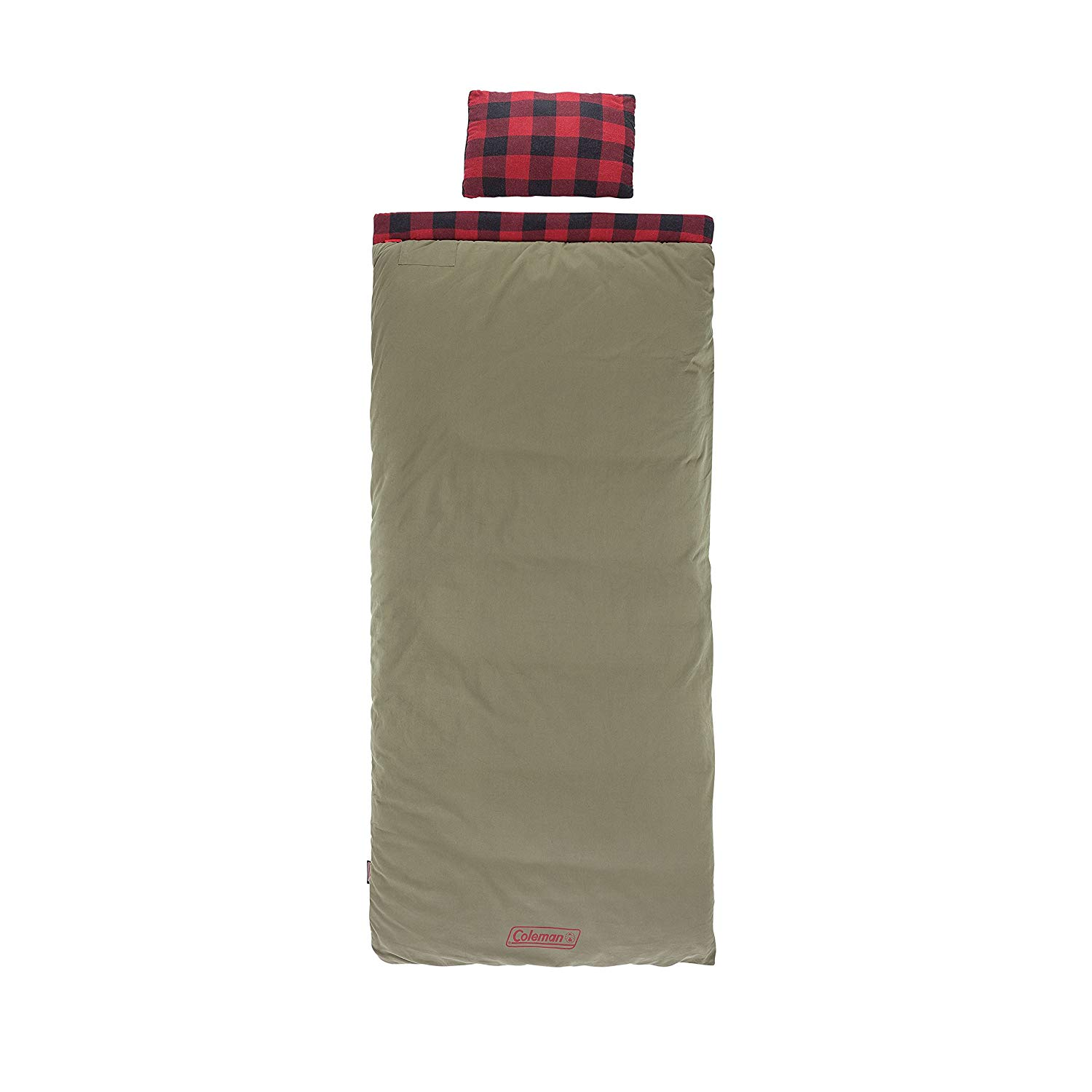 An image of Coleman Big Game 2000030093 Men's Sub Zero Degree Flannel Sleeping Bag