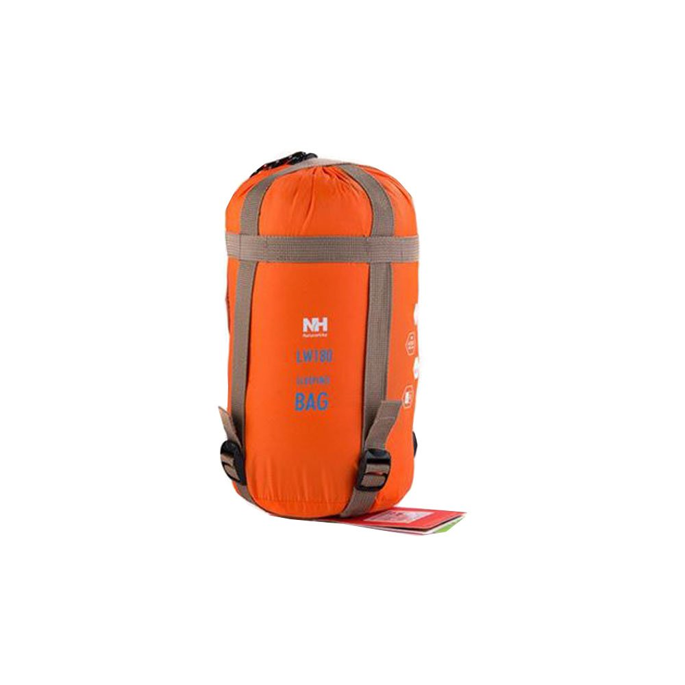 An image of Naturehike Orange Men's Double Lightweight Cotton Rectangular Sleeping Bag