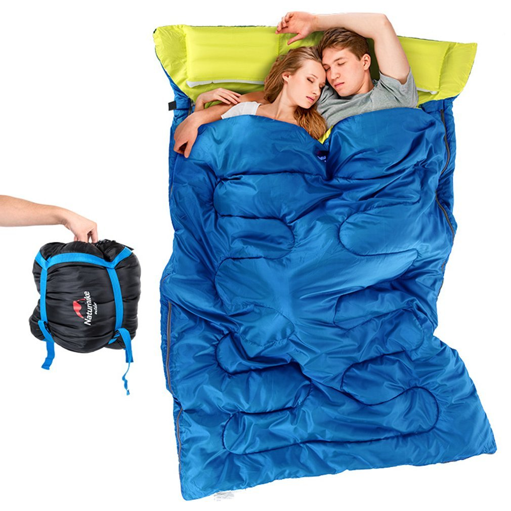 An image of Naturehike Blue Men's Double Lightweight Rectangular Sleeping Bag