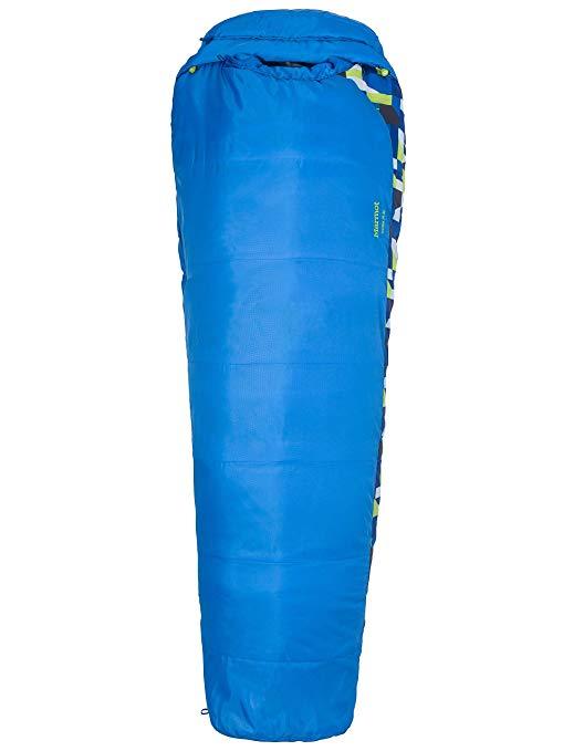 An image of Marmot 21520-2740 Kids 30 Degree Polyester Sleeping Bag | Expert Camper
