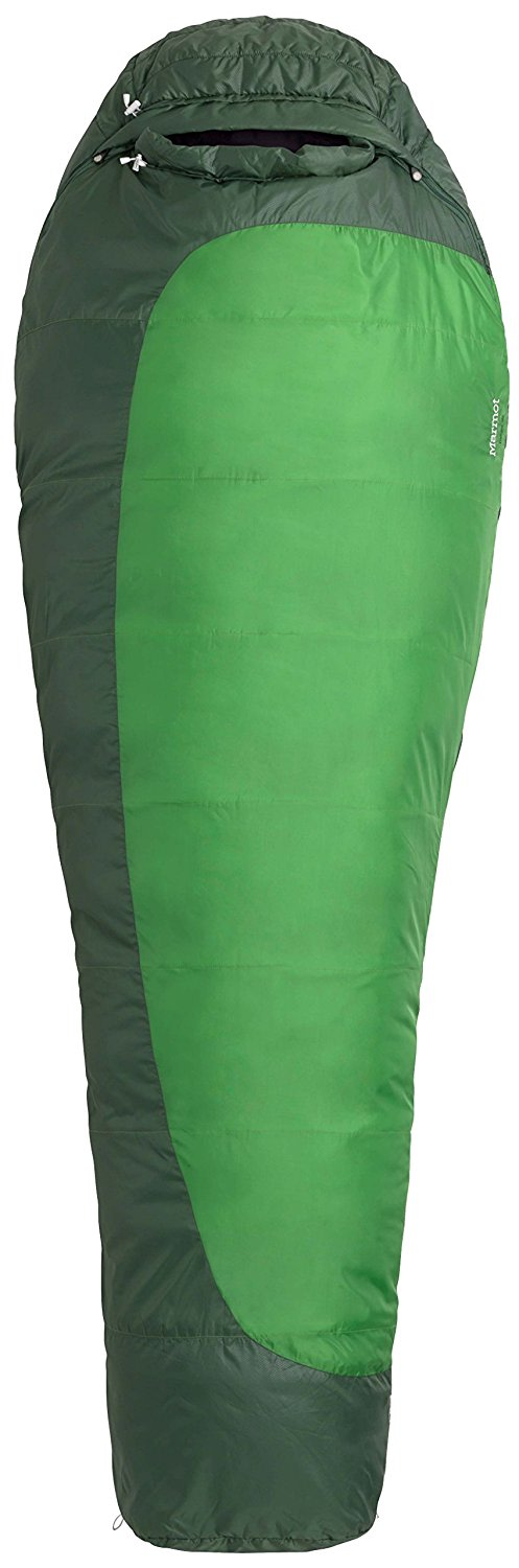 An image related to Marmot Trestles 30 21180-4724-Reg-LFT Men's 30 Degree Polyester Sleeping Bag