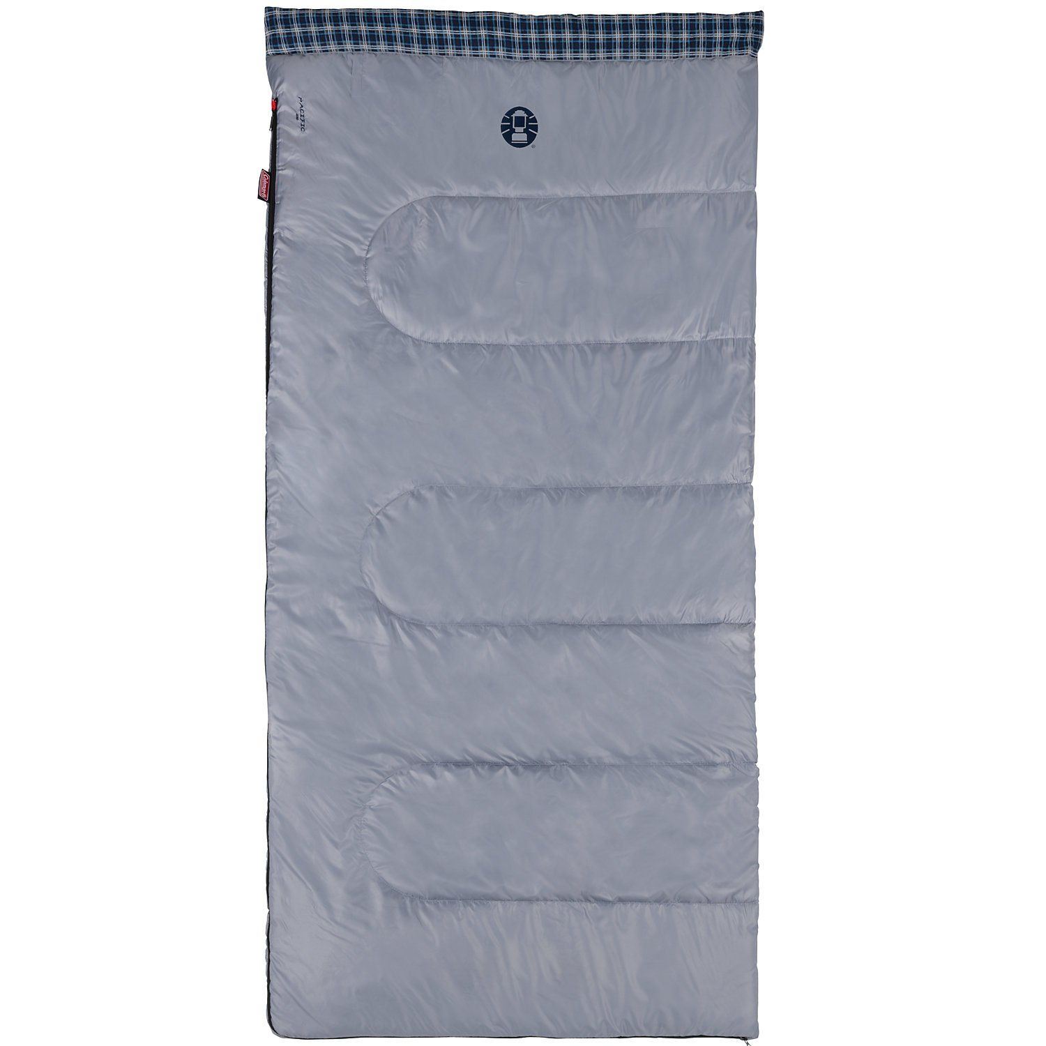 An image related to Coleman Pacific Gray 220 205176 Men's Cotton Flannel Sleeping Bag