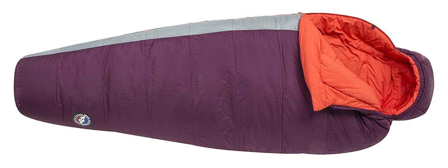 An image of Big Agnes Blue Lake 25 Women's 30 Degree Nylon Taffeta Sleeping Bag