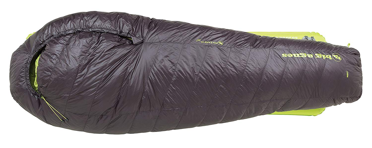 An image of Big Agnes Pin Ears 20 Degree Nylon Taffeta Sleeping Bag
