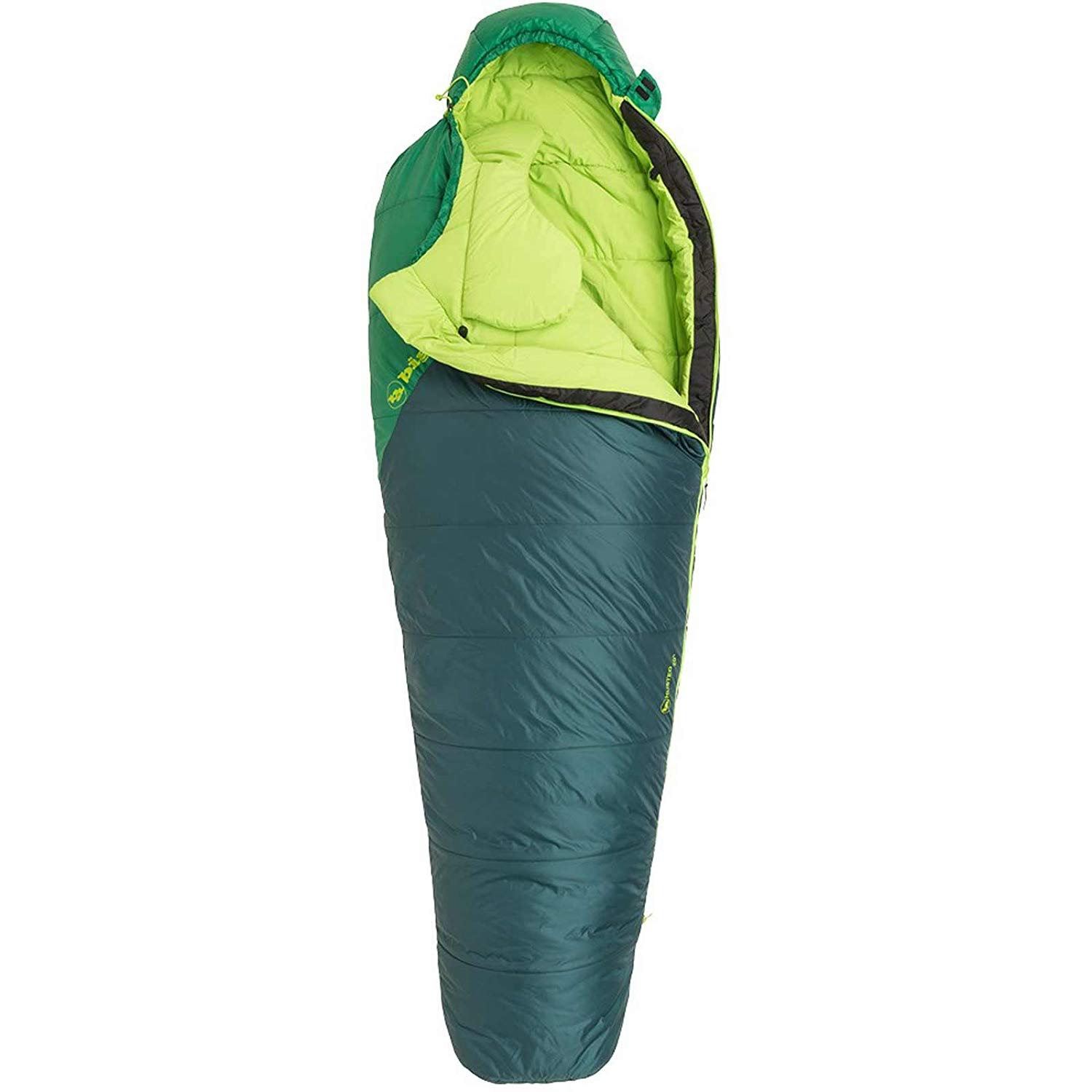 An image of Big Agnes Husted Men's 20 Degree Single Lightweight Polyester 6 Ft. 6 in. Mummy Sleeping Bag