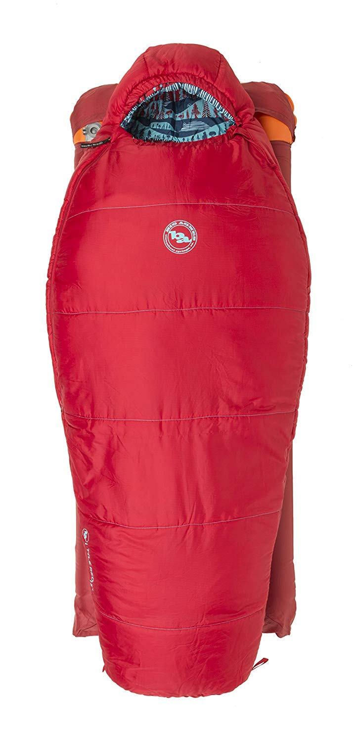 An image of Big Agnes Little Red Kids Polyester Sleeping Bag