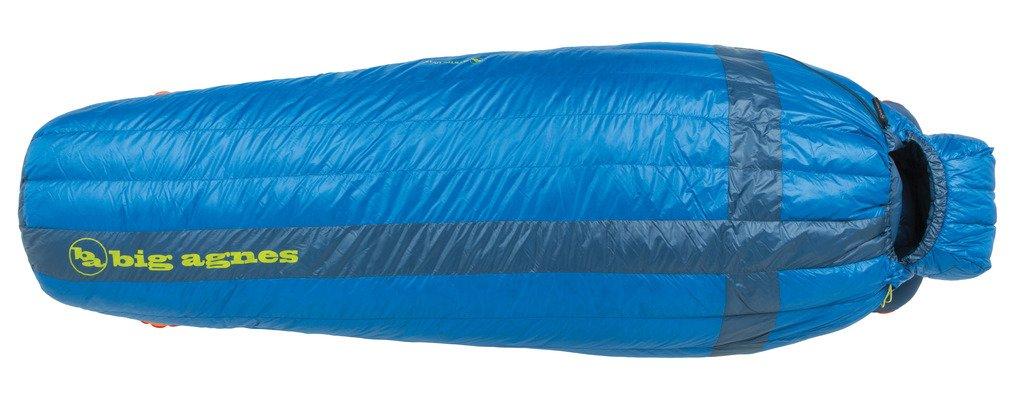 An image related to Big Agnes Mystic UL 15 Blue Single Lightweight Mummy Sleeping Bag