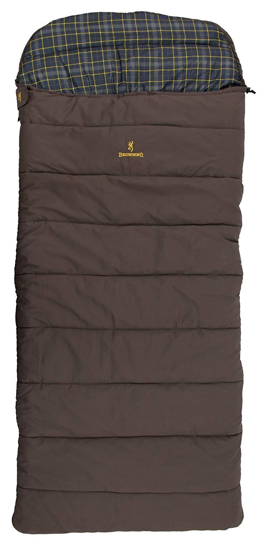 An image of Browning Klondike 4893514 Cotton Flannel Sleeping Bag | Expert Camper
