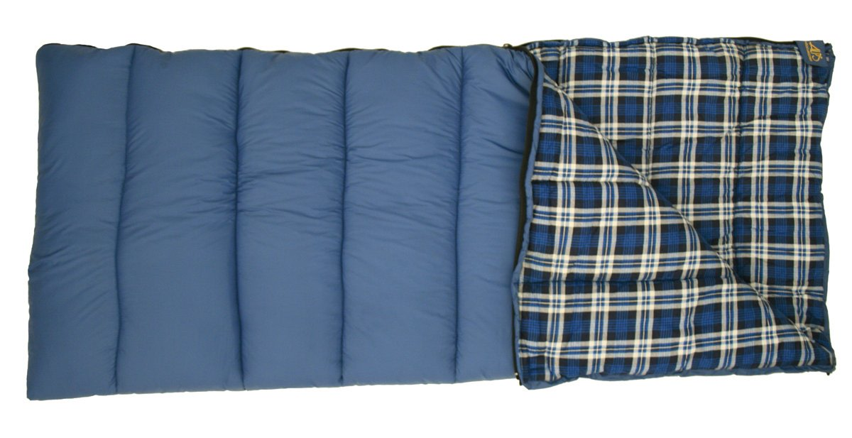 An image related to Alps Mountaineering Camper Flannel Outfitter 494342OF Cotton Flannel Sleeping Bag