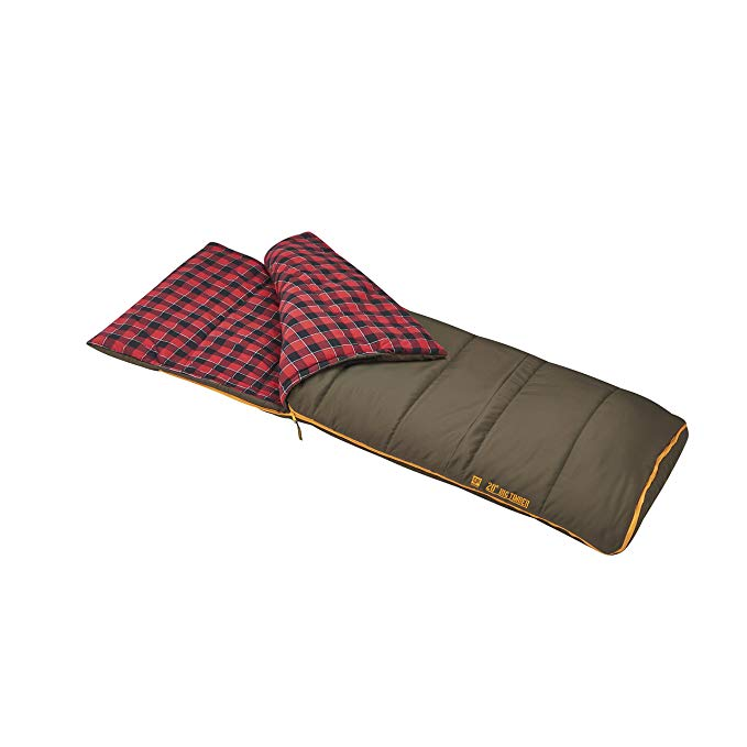 An image of Slumberjack Big Timber Pro 51730716LR 20 Degree Flannel Sleeping Bag