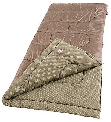An image of Coleman Oak Point 2000004456 Cotton Flannel Sleeping Bag