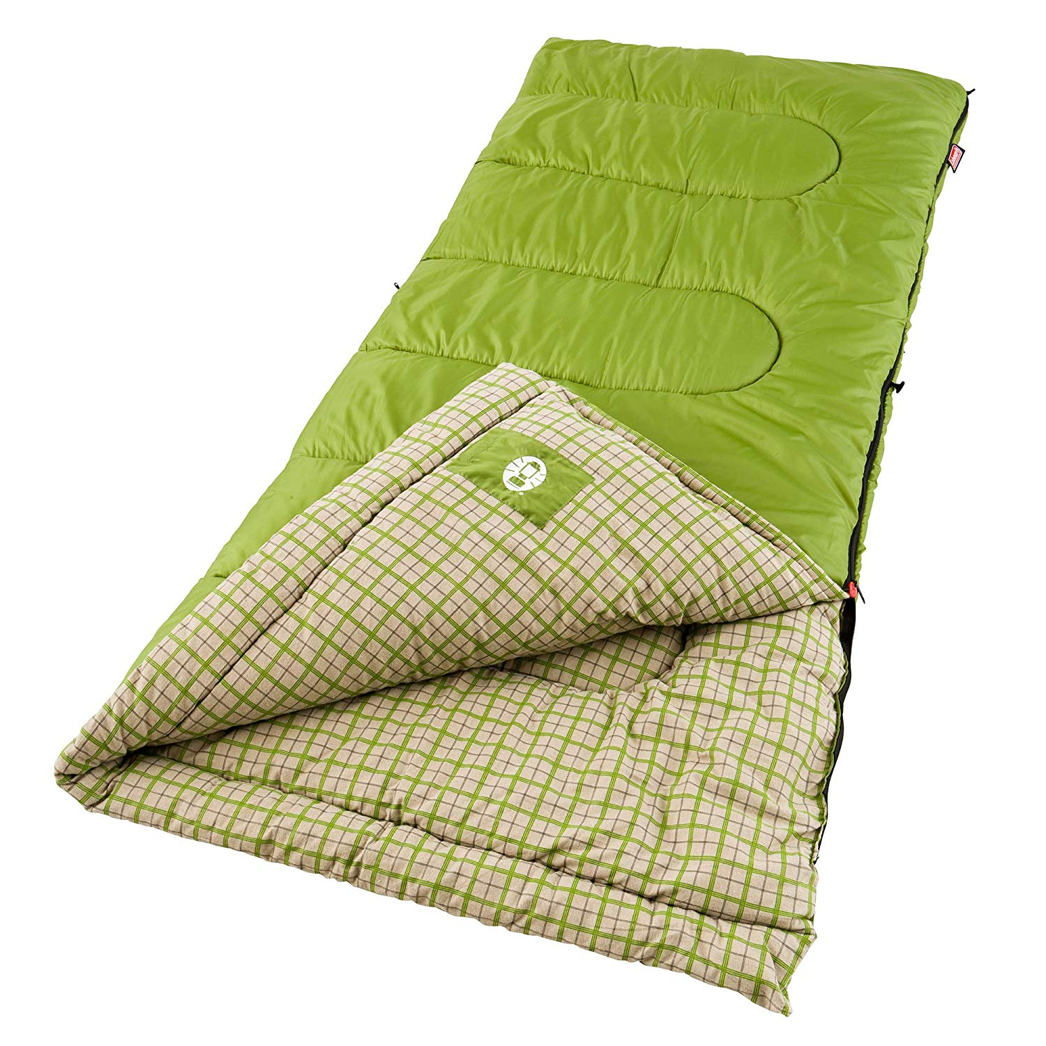 An image related to Coleman Green Valley SS-SMS-765650 Cotton Flannel Sleeping Bag
