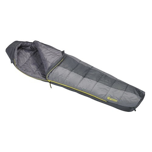 An image of Slumberjack Boundary 51726215LL Men's 40 Degree Polyester Taffeta Sleeping Bag