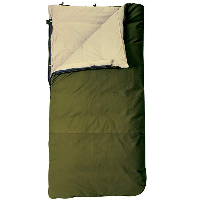 An image of Slumberjack Country Squire 51731612LR 20 Degree Flannel Sleeping Bag