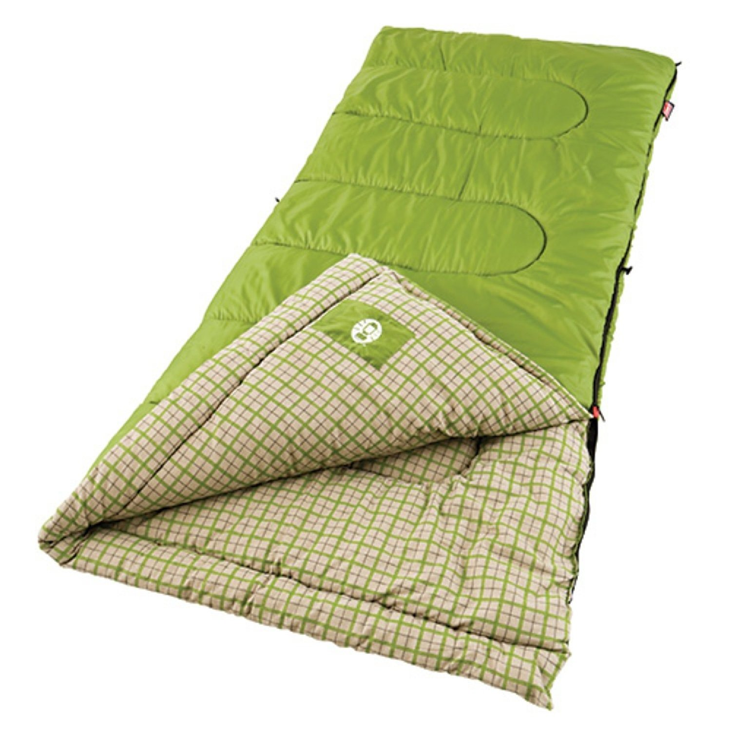 An image related to Coleman 40 Degree Cotton Flannel Sleeping Bag