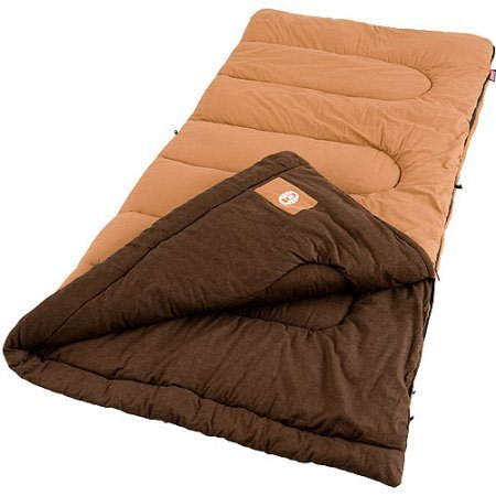 An image of Coleman Dunnock 2000004457 Men's 20 Degree Cotton Flannel Sleeping Bag