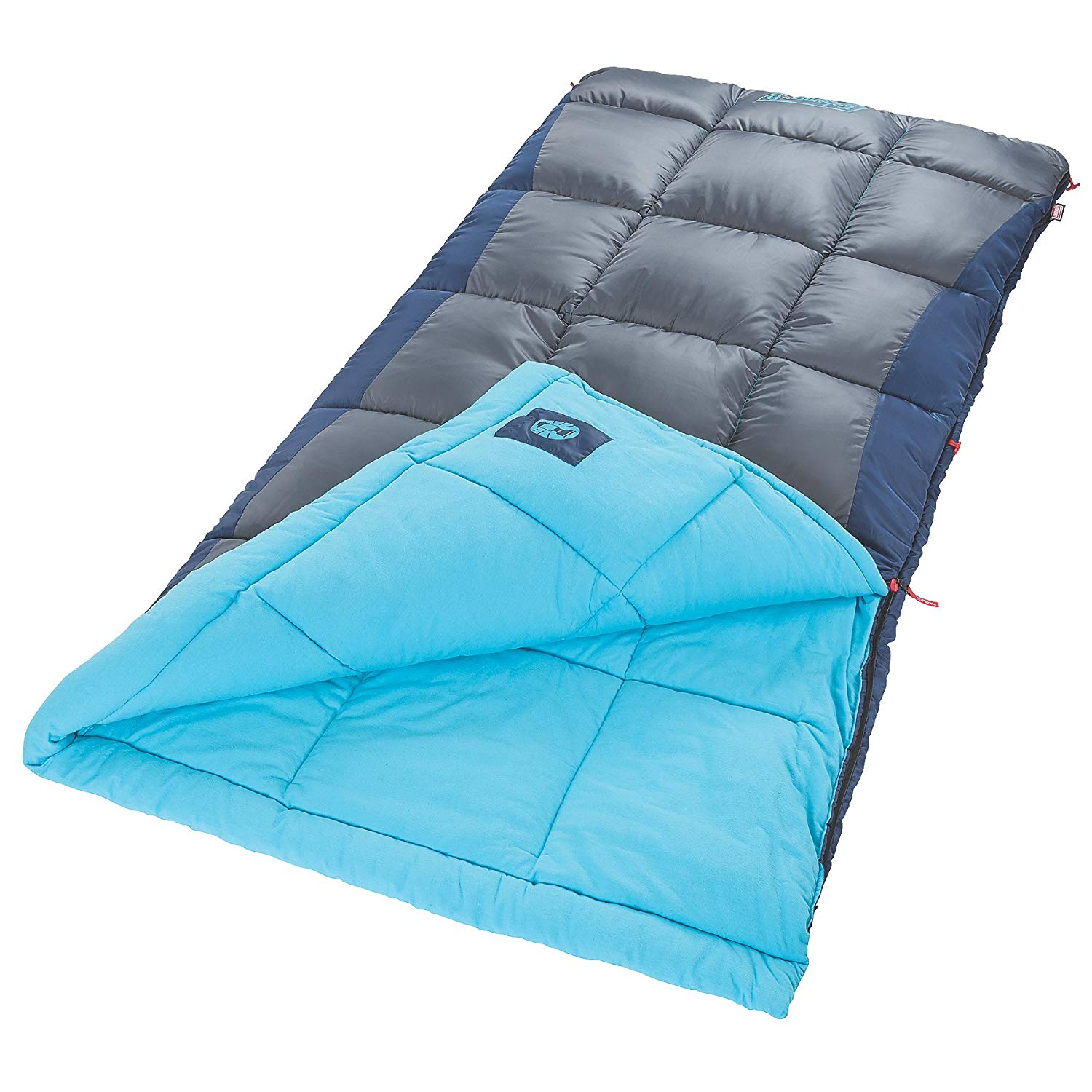 An image related to Coleman Heaton Peak 2000018510-Parent 50 Degree Sleeping Bag