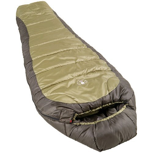An image of Coleman North Rim Olive Men's Single Mummy Sleeping Bag