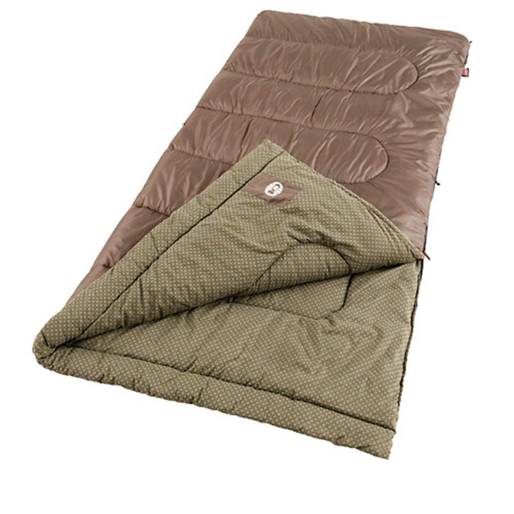 An image related to Coleman Oak Point SS-SMS-765759 Men's Cotton Flannel Sleeping Bag