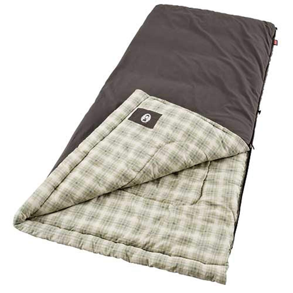 An image of Coleman Heritage 2000008710 Men's Flannel Sleeping Bag