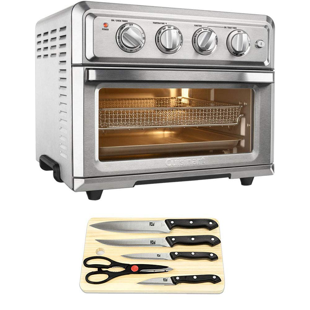 An image of Cuisinart E7CUITOA60 Silver Air Fryer Convection Countertop Large Toaster Oven