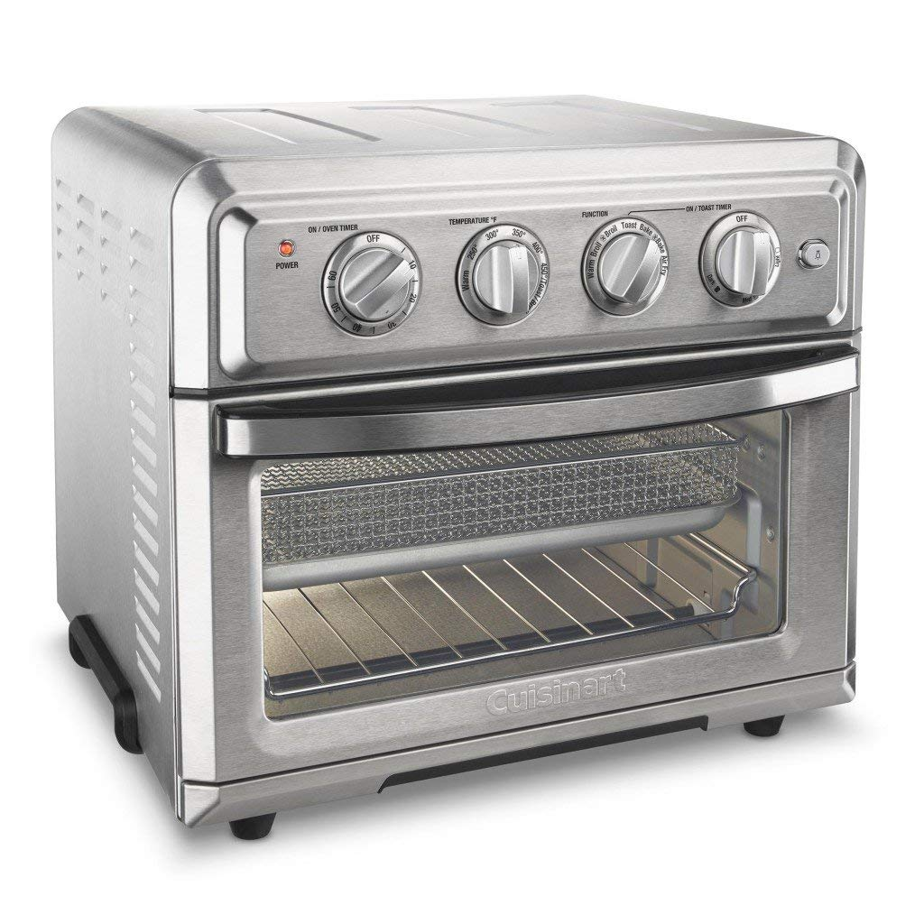 An image of Cuisinart TOA-60 Silver Air Fryer Six Slice Toaster Oven