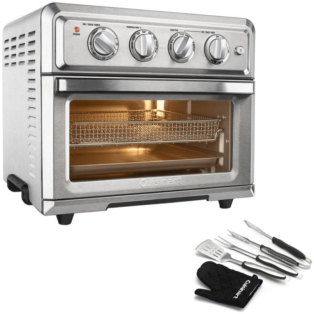 An image of Cuisinart E10CUITOA60 Silver Air Fryer Convection Countertop Toaster Oven