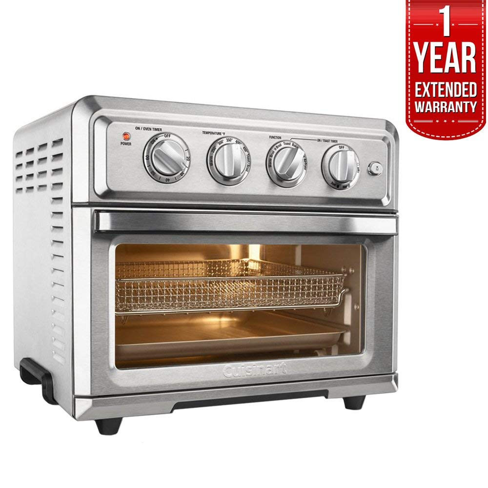 An image of Cuisinart FreshFry TOA-60 Silver Air Fryer Convection Countertop Toaster Oven