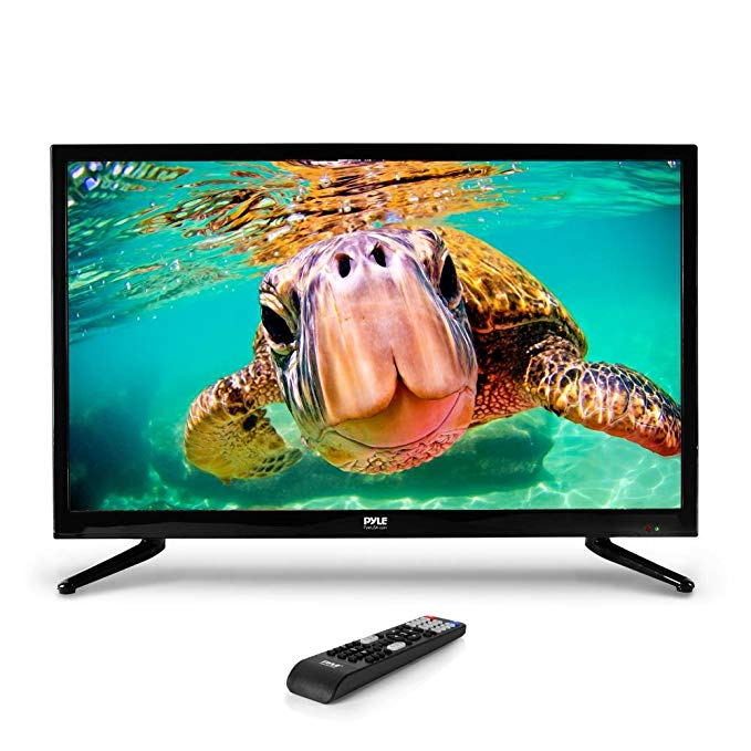 An image of Pyle PTVLED32 32-Inch Flat Screen FHD LED 60Hz TV