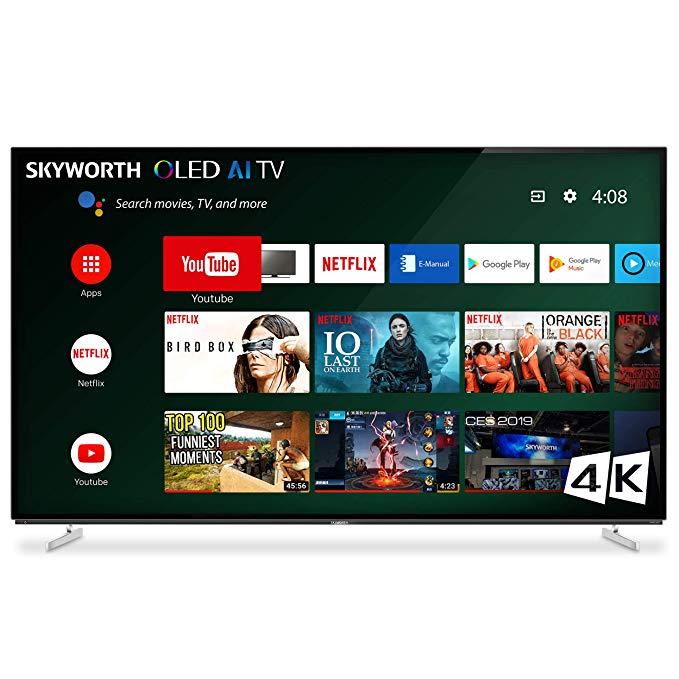 An image of SKYWORTH XA8000 OLED 65XA8000 65-Inch HDR 4K OLED 120Hz TV