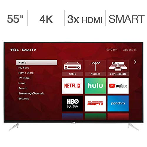 An image of TCL 55S423 55-Inch HDR Flat Screen 4K LED 120Hz Smart TV