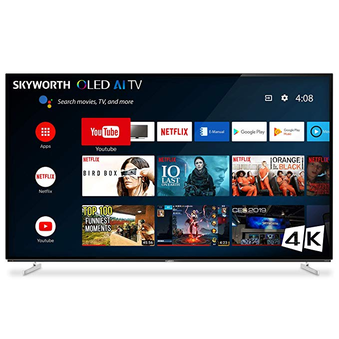 An image of SKYWORTH 55XA8000 55-Inch HDR 4K OLED 120Hz TV