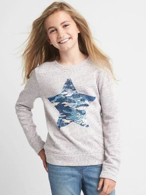 Photo of Sequin graphic marled pullover