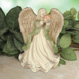 Platinum - Angel Holding Flowers