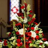 Fireside Basket - Red & White